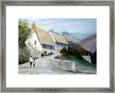 Devonshire Cottage II Framed Print by Charles Rowland