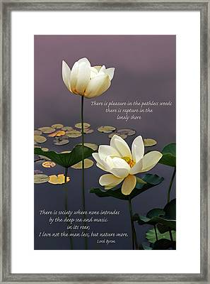 Devotion With Quote Framed Print
