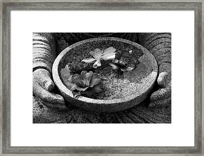 Devotional Black-and-white Version Framed Print by Dean Harte