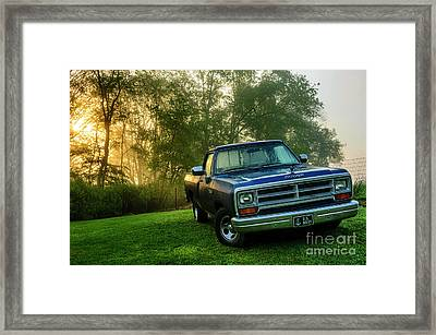 Dew-covered Dodge Ram 100 Framed Print by Thomas R Fletcher