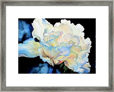 Dew Drops On Peony Framed Print