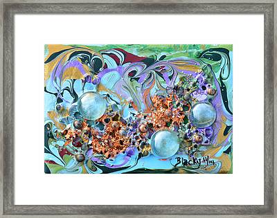 Dew Drops On The Meadow Framed Print