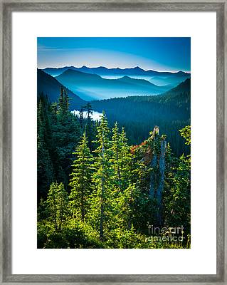 Dewey Lake Framed Print by Inge Johnsson