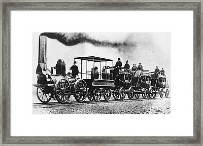 Dewitt Clinton Locomotive Framed Print by Omikron