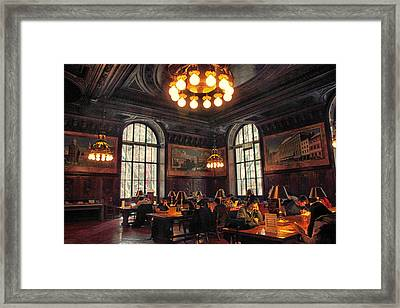 Framed Print featuring the photograph Dewitt Wallace Periodical Room by Jessica Jenney