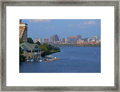 Dewolfe Boathouse Boston Ma Framed Print by Toby McGuire