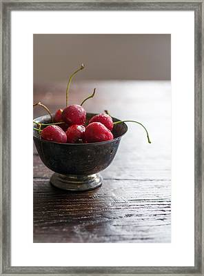 Dewy Cherries Framed Print
