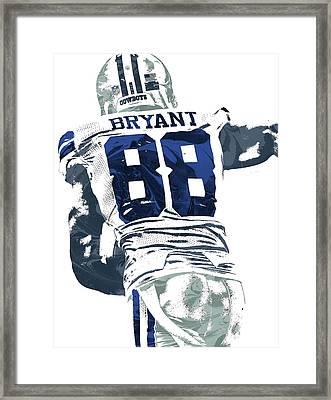 Framed Print featuring the mixed media Dex Bryant Dallas Cowboys Pixel Art 6 by Joe Hamilton