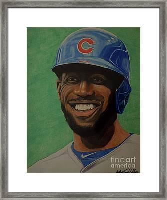 Dexter Fowler Portrait Framed Print