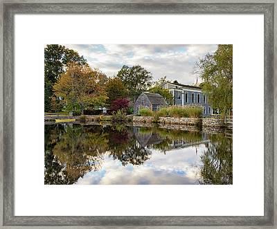 Dexter Grist Mill Reflections Framed Print