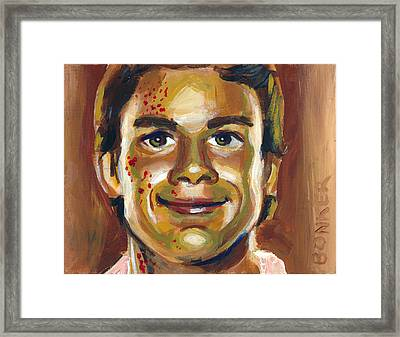 Dexter Framed Print by Buffalo Bonker
