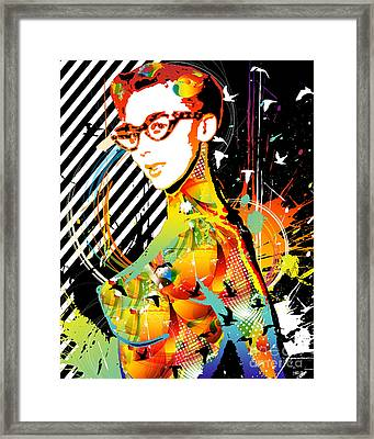 Dexterous Dame Framed Print by Chris Andruskiewicz