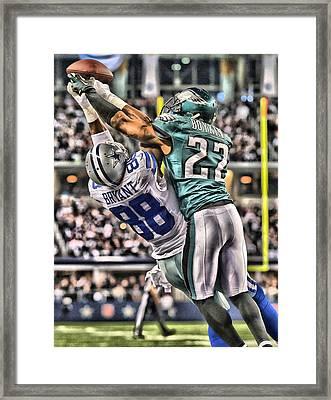 Dez Bryant Dallas Cowboys Art Framed Print