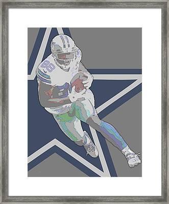 Dez Bryant Dallas Cowboys Contour Art Framed Print by Joe Hamilton