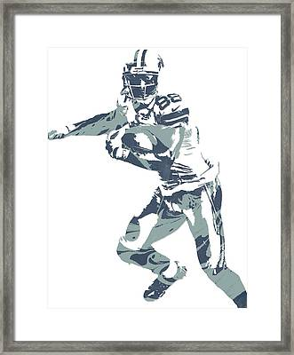 Dez Bryant Dallas Cowboys Pixel Art 10 Framed Print