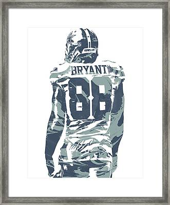 Dez Bryant Dallas Cowboys Pixel Art 12 Framed Print