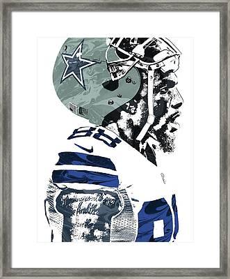 Framed Print featuring the mixed media Dez Bryant Dallas Cowboys Pixel Art 4 by Joe Hamilton