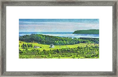 Framed Print featuring the digital art D. H. Day Farmstead At Sleeping Bear Dunes National Lakeshore by Digital Photographic Arts