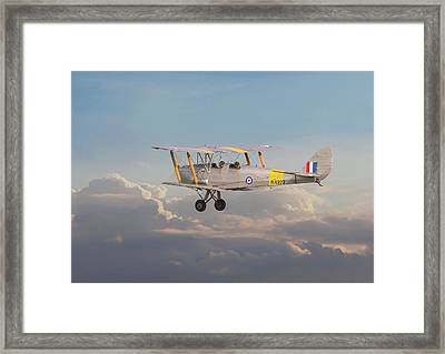 Framed Print featuring the digital art Dh Tiger Moth - 'first Steps' by Pat Speirs