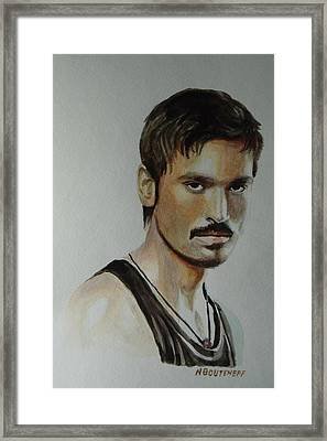 Dhanush Popular Indian Singer Framed Print
