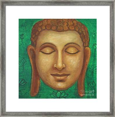 Dhyana Buddha Framed Print by Nayna Tuli Fineart