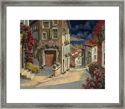 Di Notte Al Mare Framed Print by Guido Borelli