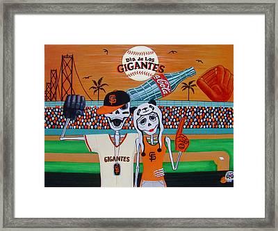 Dia De Los Gigantes Framed Print by Evangelina Portillo