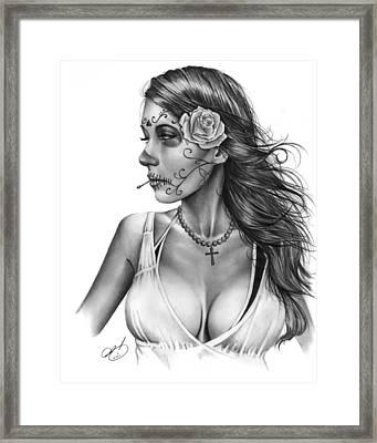 Dia De Los Muertos 1 Framed Print by Pete Tapang