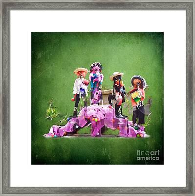 Dia De Los Muertos Celebracion Framed Print