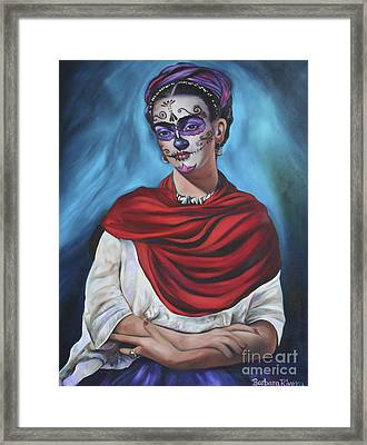 Dia De Los Muertos Frida Framed Print