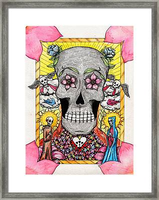 Framed Print featuring the painting Dia De Los Muertos by Josean Rivera