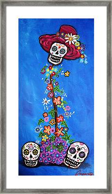 Framed Print featuring the painting Dia De Los Muertos by Pristine Cartera Turkus