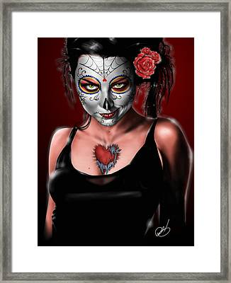 Dia De Los Muertos The Vapors Framed Print by Pete Tapang