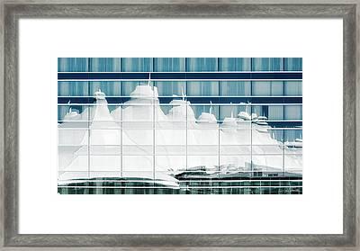 Framed Print featuring the photograph Dia Hotel Reflection by Joe Bonita