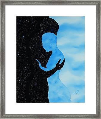 Dia Y Noche Framed Print