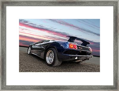 Diablo At Sunset Framed Print
