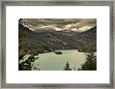 Diablo Lake - Le Grand Seigneur Of North Cascades National Park Wa Usa Framed Print by Christine Till