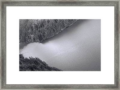 Diablo Lake Washington Black And White Framed Print by Dan Sproul