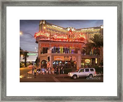 Diablo's Cantina In Las Vegas Framed Print