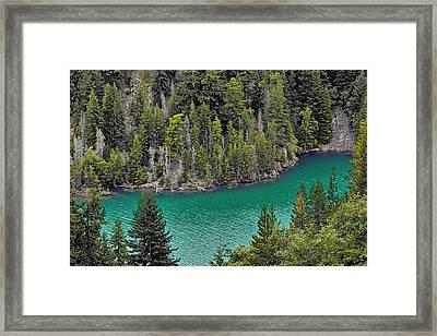 Diabolo Lake North Cascades Np Wa Framed Print