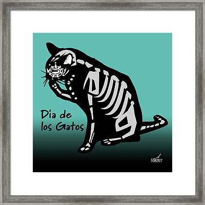 Dia De Los Gatos Framed Print