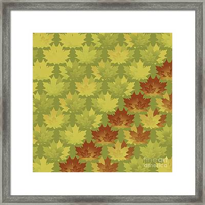 Framed Print featuring the digital art Diagonal Leaf Pattern by Methune Hively