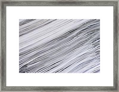 Diagonal Lines Of A Paper Framed Print by Aliaksei Marozau
