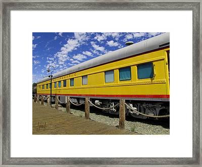 Diagonal On The Rails Framed Print by S Lynn Lehman