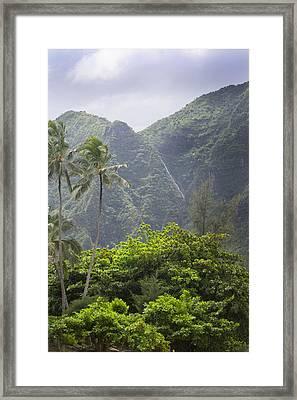 Diagonal Waterfall At Bali Hai Framed Print