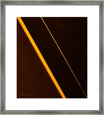Diagonals Framed Print