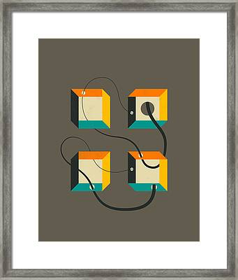 Diagram 1 Framed Print by Jazzberry Blue