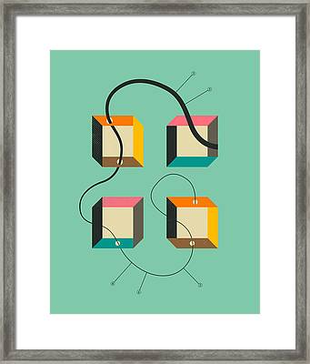 Diagram 2 Framed Print by Jazzberry Blue