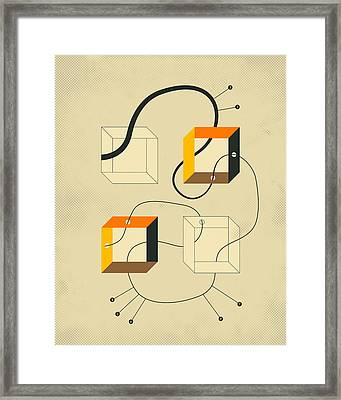 Diagram 3 Framed Print by Jazzberry Blue