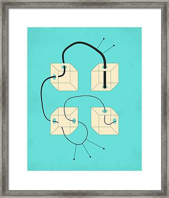 Diagram 4 Framed Print by Jazzberry Blue